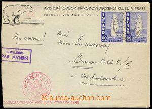 78961 - 1948 dopis odeslaný z Islandu do Brna příslušníkem čs.