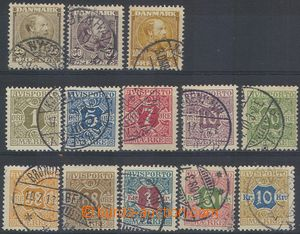 78966 - 1905-07 selection of Mi.50-52, King Christian IX., highest v