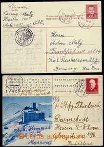 78972 - 1948-50 CDV89/4, 96, comp. 2 pcs of international PC to Germ