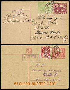 78978 - 1919-21 poštovny STARÉ ČIVICE a TISMICE, sestava 2ks hrad
