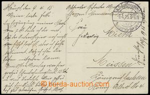 78979 - 1915 GERMANY  Ppc of Khust (Huszt) sent through/over German