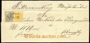 78983 - 1850 dopis vyfr. zn. Mi.1, 2, zn. č.1 světle hnědooranžo