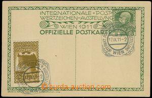 78987 - 1911 INTERNAT. POSTWERTZEICHEN AUSSTELLUNG WIEN 17.IX.11, sp
