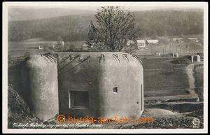 79002 - 1939 HRÁDEK NAD NISOU (Grottau), linie bunkrů; vzadu popsa