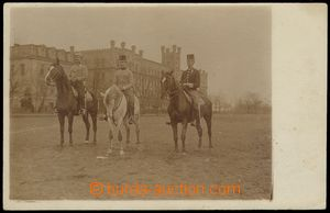 79005 - 1911 vojáci na koních, kasárna Mladá Boleslav; prošlá,