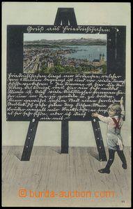 79013 - 1910 FRIEDRICHSHAFEN - koláž dítě před tabulí; prošl�