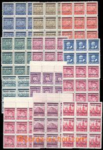 79036 - 1939 Pof.1-19 přetisková série, vše v 9-bloku, některé