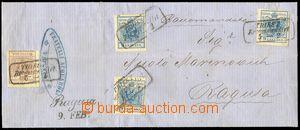 79057 - 1854 R-dopis do Ragusy vyfr. zn. Mi.4, 5 (3x), zn. č.4 na z