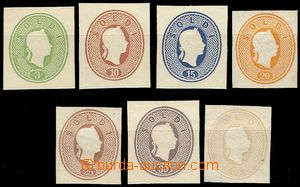 79069 - 1861 comp. 7 pcs of plate proofs for postal stationery cover