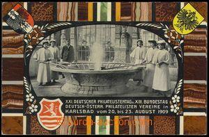 79097 - 1909 KARLOVY VARY (Karlsbad) - koláž, Vřídlo a lidé, ce