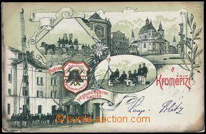 79102 - 1900 KROMĚŘÍŽ - hasiči, litografická koláž; DA, pro�