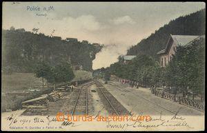 79103 - 1904 POLICE N. M. - railway-station, train; long address, Us