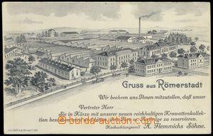 79105 - 1900 RÝMAŘOV (Römerstadt) - firemní pérová litografie,