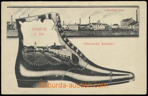79106 - 1909 TÝNIŠTĚ N. O. - collage, bota, factory; Us, bumped c
