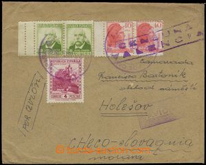 79112 - 1938 SPAIN / INTERNATIONAL BRIGADES  airmail letter with mul