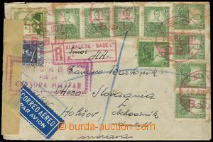 79115 - 1937 SPAIN / INTERNATIONAL BRIGADES  Reg and airmail letter