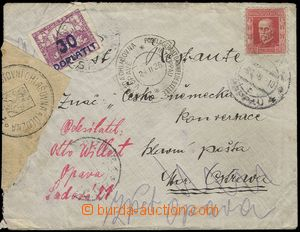 79120 - 1926 DEAD LETTER OFF. OPAVA  letter sent from Opava to Ostra