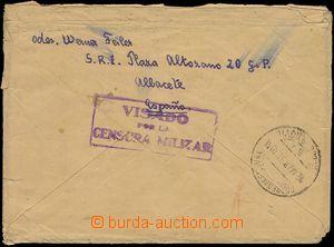79127 - 1938 ŠPANĚLSKO / INTERBRIGÁDY  dopis do Prahy, OVS BARCEL