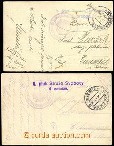 79131 - 1919 2x reálfoto příslušníků II. pluku Stráže svobod