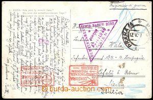 79133 - 1917 pohlednice odeslaná z Prahy na válečného zajatce na