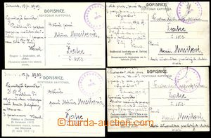 79158 - 1919 RUSKO, legie, sestava 4ks pohlednic (bitva u Zborova, b