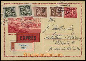 79173 - 1945 CDV75A, Banská Bystrica, sent as Reg and Express, upra