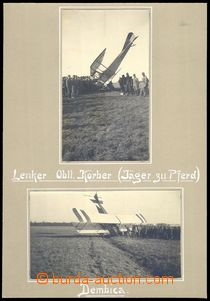 79190 - 1915 MILITARIA  accident aircraft by/on/at Polish town Dębi