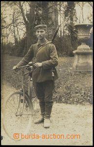 79191 - 1915 německý voják s bicyklem, nepoužitá, výborný sta