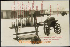 79195 - 1930 MILITARIA  Czechosl. army, artillery munice with descri