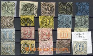 79203 - 1852-66 selection of 20 pcs of stamps, 2x clear, otherwise p