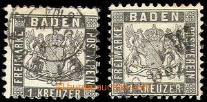 79206 - 1862 Mi.17a, 17c - zk. Flemming, kat. 400€, známka 17a je