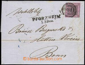 79209 - 1856 dopis vyfr. zn. Mi.4b, číselné raz. 109 a řádkové