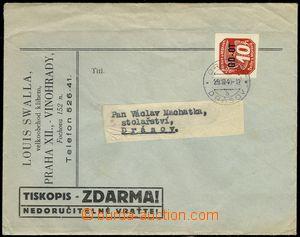 79232 - 1940 letter franked with stamp. Pof.OT1, CDS DRÁSOV 29.3.40