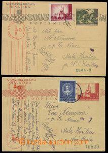 79257 - 1942-44 PC Mi.P3A + Mi.P4A, uprated stamp. Mi.78, resp. Mi.1