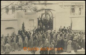 79280 - 1925 real photo from opening Tyrš house in Prague, lined up