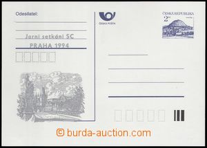 79291 - 1993 CDV3B, Říp, PC with stříbrným  additional-printing
