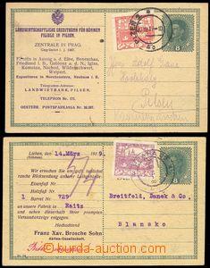 79312 - 1919 CPŘ3, 8h Karel, 2 ks, z toho 1x dofrank. 3h Hradčany,