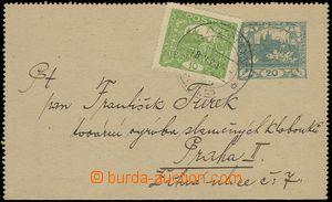 79317 - 1920 CZL1, 20h Hradčany zaslaná v tuzemsku ve III.TO, dofr