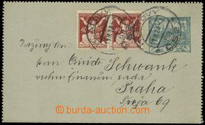 79318 - 1923 CZL1Pa, 20h Hradčany blue-green paper, uprated with st