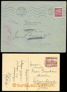 79338 - 1938 2x entire, 1x postcard with Polish stmp 15Gr., CDS CIES