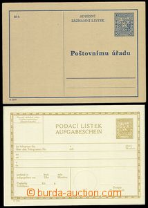 79358 - 1931-37 CPL3B + CAZ1A certificate of mailing and address lab