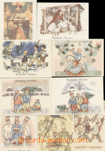 79363 - 1950 CPH40/1-16 Vánoční 1950, kompletní série, výborn�