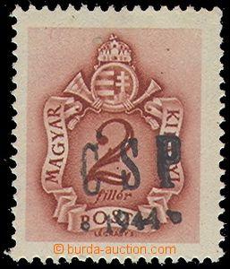 79382 - 1944 Pof.RV202, Chustský přetisk, hodnota 2f doplatní, sv