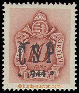 79384 - 1944 Pof.RV206, Chustský přetisk, hodnota 10f doplatní, s
