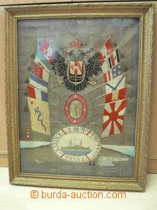 79387 - 1909-12 S.M.S. Kaiser Franz Joseph I., upomínkový vyšívaný o