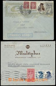 79441 - 1947 two air-mail letters to Czechoslovakia with Mi.2x 655,