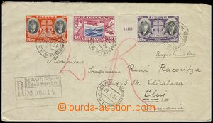 79444 - 1934 Reg letter addressed to to Rumania franked with. air st