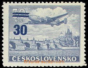 79465 - 1949 Pof.L32, Přetisková provizoria, II.typ (mírně pooto