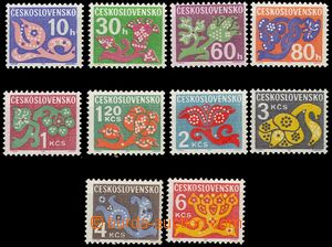 79466 -  Pof.D92-103, Postage due stmp - flowers, outside 20h and 5,