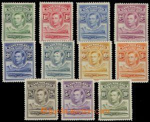 79500 - 1938 Mi.18-28, Král Jiří VI., kompletní série 11 ks, stopy p